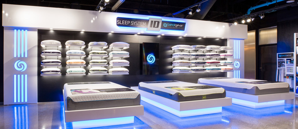 First-ever BEDGEAR Performance Sleep Shop® Pop-Up opens in Boston with interactive Pillow ID® wall.