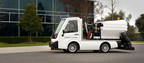 Tropos Motors New Street Sweeper Electric Compact Utility Vehicle 70 Percent Quieter than Existing Offerings