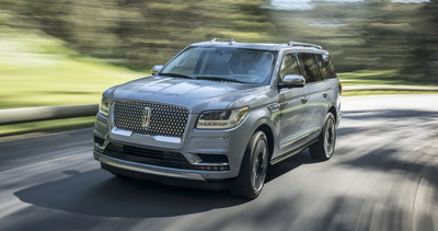 The all-new 2018 Lincoln Navigator features Lincoln Play, plus an available rear-seat entertainment system that allows passengers to stream movies, TV shows, games and other content wirelessly with compatible mobile devices. (PRNewsfoto/The Lincoln Motor Company)