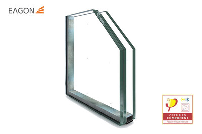 Eagon Super Vacuum Glass certified by the PHI