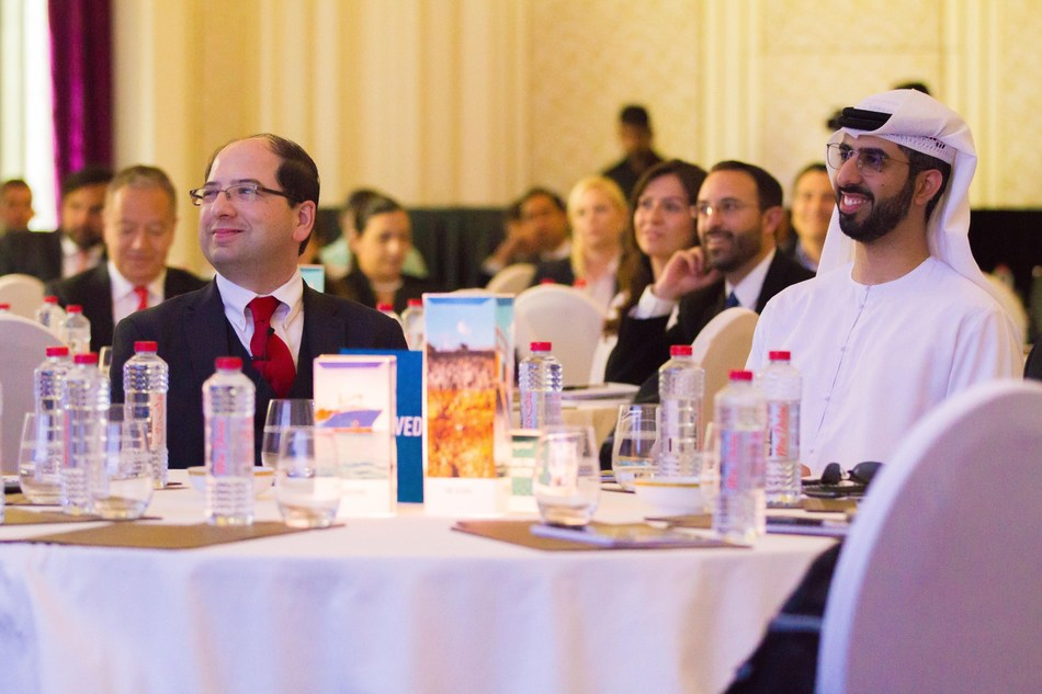 Amir Husain, Founder and CEO of SparkCognition, and His Excellency Omar bin Sultan Al Olama, Minister of State for Artificial Intelligence