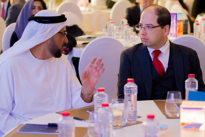 Abdul Nasser Al Mughairbi, Unit Manager at ADNOC, and Amir Husain, Founder and CEO of SparkCognition