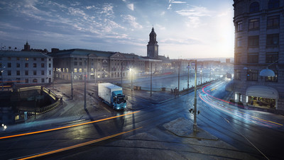 No traffic queues – the electric truck's low noise level opens the door to cargo transport at night and early in the morning.
