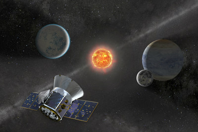 NASA's Transiting Exoplanet Survey Satellite (TESS) is set to launch on a SpaceX Falcon 9 rocket from Space Launch Complex 40 at Cape Canaveral Air Force Station in Florida no earlier than April 16, 2018. Once in orbit, TESS will spend about two years surveying 200,000 of the brightest stars near the sun to search for planets outside our solar system. Credits: NASA
