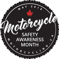2018 Motorcycle Safety Awareness (CNW Group/Motorcyclists Confederation of Canada (MCC))