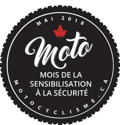 2018 logo du mois de la sensibilisation à la sécurité (Groupe CNW/Confédération motocyclistes du Canada (CMC))