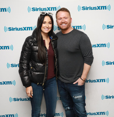 "Kacey Musgraves and Shane McAnally in the new SiriusXM series ""Songville."" The premiere episode airs on April 18 on SiriusXM's Volume channel."