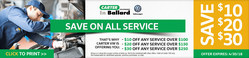 Carter Volkswagen offers a coupon for up to $30 off any service.