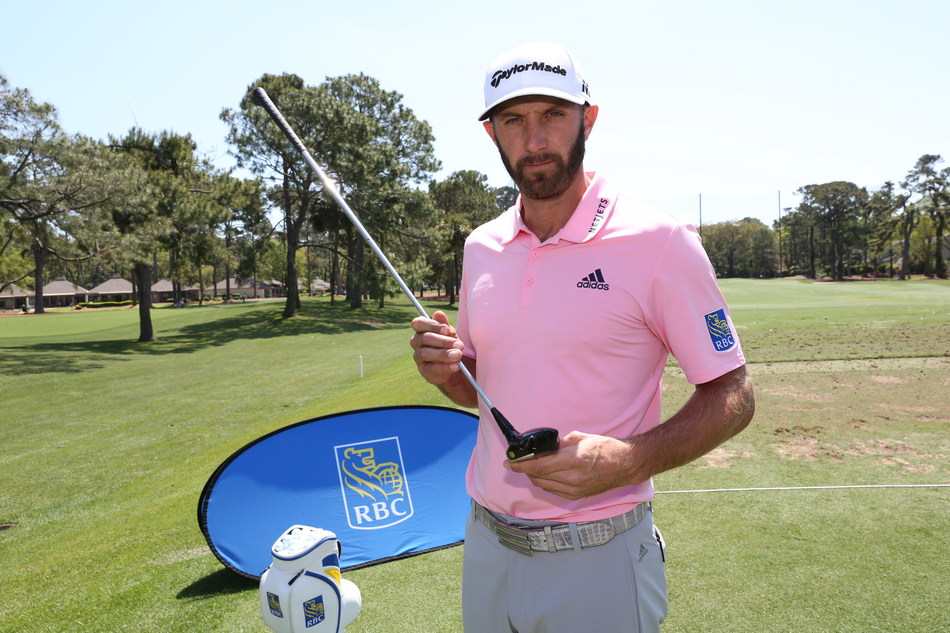 Johnson with a vintage Arnold Palmer branded driver. (CNW Group/RBC)