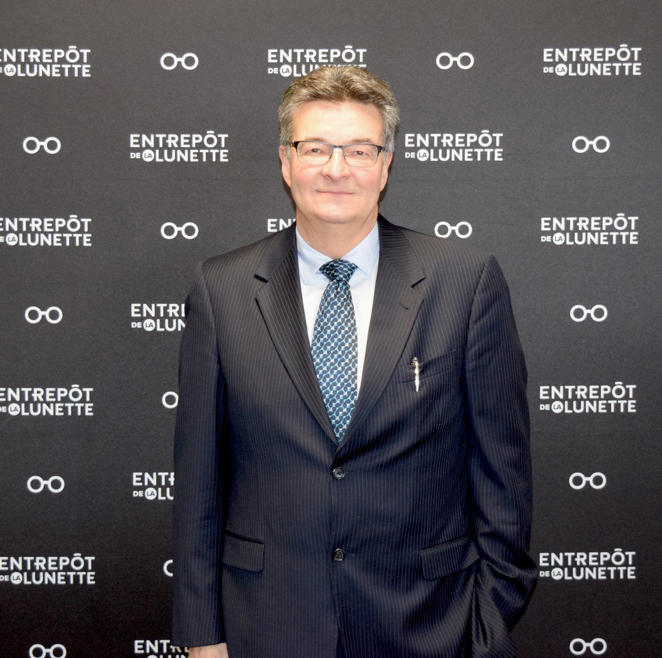 Daniel Beaulieu, president and co-founder of L'Entrepôt de la Lunette (CNW Group/Entrepôt de la lunette)