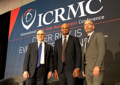 Pictured (l to r) are Joel Baker of MSA Research, Jereme Ramsay of the Bermuda Business Development Agency, and Adam Segal of the Council on Foreign Relations (New York). (CNW Group/International Cyber Risk Management Conference (ICRMC))