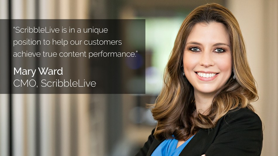 ScribbleLive appoints Mary Ward as Chief Marketing Officer (CNW Group/ScribbleLive)