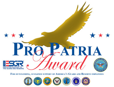 Delta Risk, a global provider of cyber security and security consulting services, announced today that the Texas Committee for Employer Support of the Guard and Reserve (ESGR), an official office of the U.S. Department of Defense, has recognized the company with the prestigious Pro Patria Award in the Small Business Category.