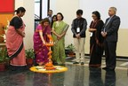 Lamplighting at Principals' Meet at IILM University Gurugram. From Left to right- Dr. Sujata Shahi (Sr. Director-IILM Gurugram), Ms. Malvika Rai (Chairperson, IILM), Dr. Maina Singh ( (Scholar-in-Residence, American University, Washington DC, and Director-Teaching and Learning, IILM), Mr. Raj Nehru (Vice-Chancellor, Haryana Vishwakarma Skills University). Ms. Aditi Misra (Principal, DPS sector 45, Gurugram), Mr. Kamal Singh (Director-General United Nations Global Compact) (PRNewsfoto/IILM Education Trust)