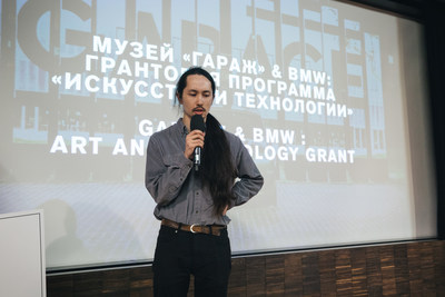 The announcement of BMW Group Russia and Garage Museum of Contemporary Art grant winner, April 10, 2018, Moscow, Russia; Sergey Kasich (artist). © Garage Museum of Contemporary Art (PRNewsfoto/BMW Group)