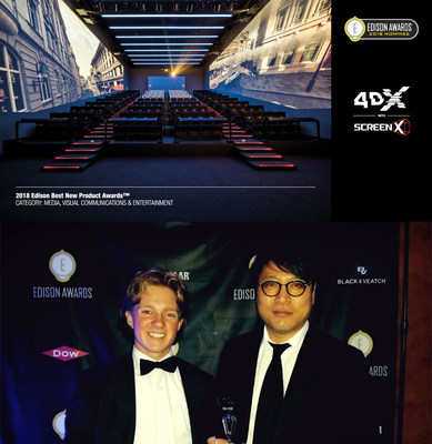 (Left) Jack Fox, the Edison Awards / (Right) Ted Chang, Head of Customer Relation, CJ 4DPLEX America
