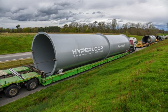 Full-Scale Hyperloop Tubes Arrive in HypleroopTT's Toulouse R&D Center