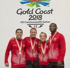 4 médailles pour la lutte aujourd'hui au Jeux du Commonwealth 2018 : l'or pour Erica Wiebe et Diana Weicker, l'argent pour Steven Takahashi et Jevon Balfour. (Groupe CNW/Association canadienne des Jeux du Commonwealth)