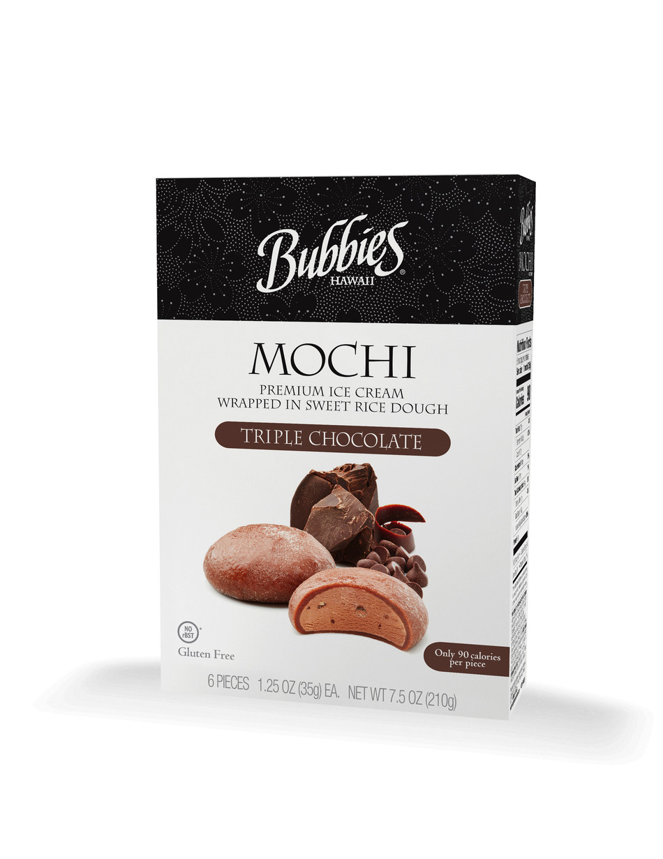 """Bubbies Homemade Ice Cream & Desserts and its new Triple Chocolate Mochi Ice Cream has won a prestigious 2018 sofi (specialty outstanding food innovation) Award"""" from the Specialty Food Association which recognizes outstanding consumer food products."""