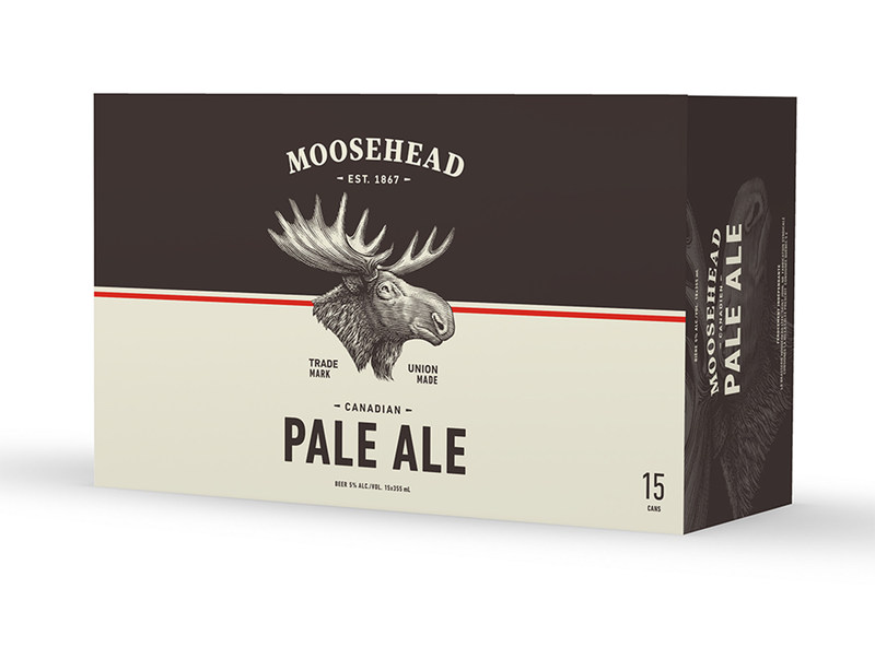 Moosehead Pale Ale will be available in 4pks and 15pks