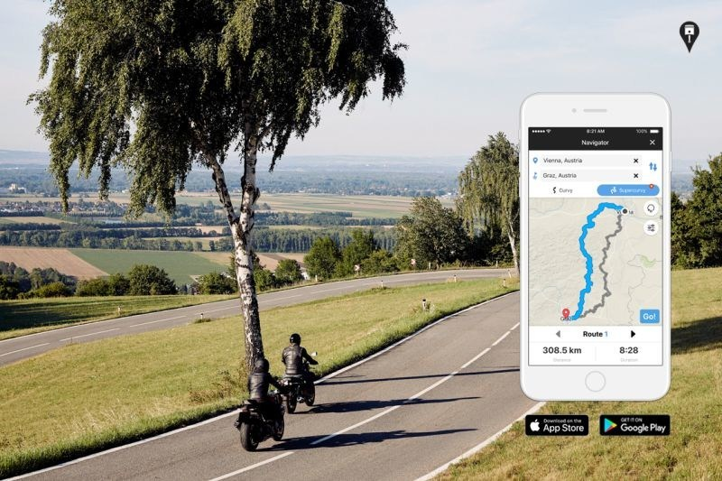 APP launches premium subscription RISER PRO with individualized route calculation. Photogapher: Alex Krischner Credits: RISER PRO (PRNewsfoto/RISER PRO)