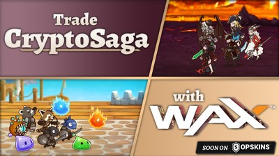 Crypto Collectible �CryptoSaga� Partners with WAX and OPSkins Marketplace