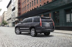 front view of the Cadillac Escalade, which is available at Coast to Coast Motors.