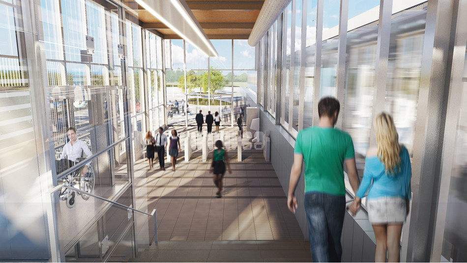 REM - Du Ruisseau Station – Interior (CNW Group/Lemay Perkins+Will Bisson Fortin consortium)