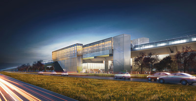 REM – Station and view from Highway 40 (CNW Group/Lemay Perkins+Will Bisson Fortin consortium)