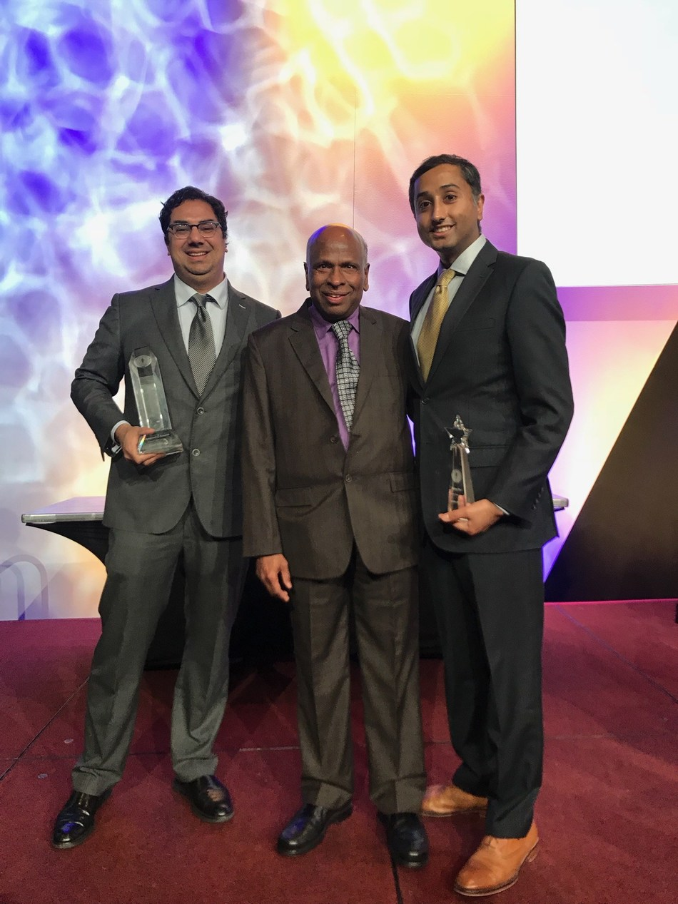 Dr. Amol Soin at the 20th annual ASIPP Awards. Pictured from left to right: Drs. Amol Soin, Laxmaiah Manchikanti, and Sunny Jha