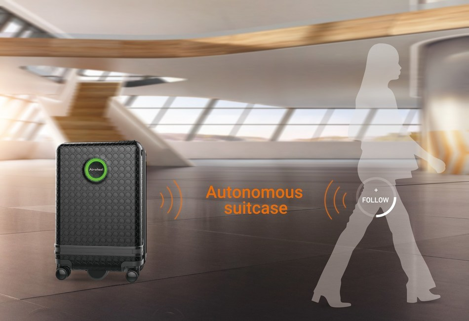 Airwheel SR3, a hands-free, smart robot suitcase with visual recognition and sensing