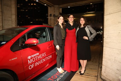 Toyota Honors 2018 Mothers of Invention Emily Kennedy, Maxeme Tuchman and Danya Sherman at 9th Annual Women in the World Summit. (PRNewsfoto/Toyota Motor North America)