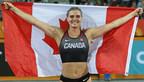 Alysha Newman du Canada remporte la médaille d'or au saut à la perche aux Jeux du Commonwealth de 2018 à Gold Coast, Australie. (Groupe CNW/Association canadienne des Jeux du Commonwealth)