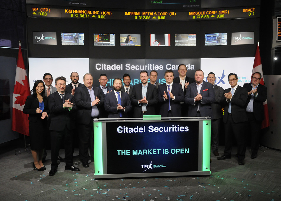 Citadel Securities Canada Opens the Market