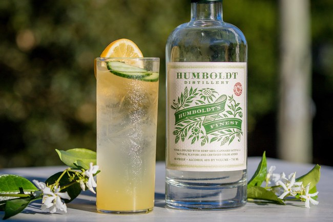 The Hemp Highball is made with Humboldt's Finest cannabis infused vodka