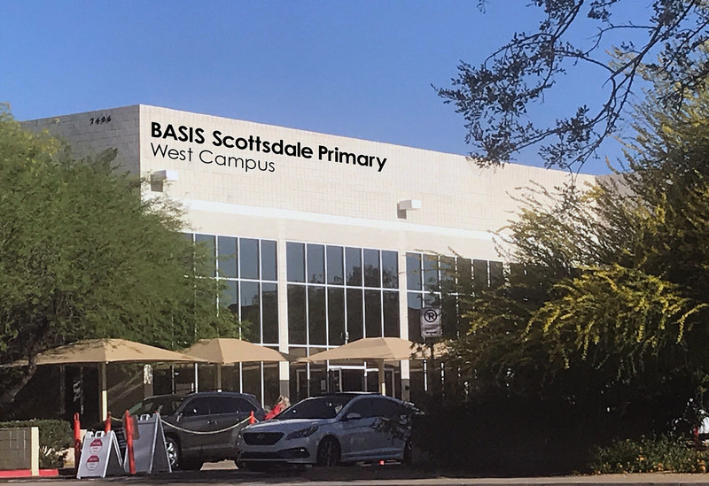 The new BASIS Scottsdale Primary - West Campus building, on East Tierra Buena Lane.
