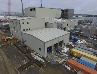 Power Plant, Woodbridge New Jersey – INNOVA Global designed, supplied and installed 8 turnkey buildings. (CNW Group/Innova Global)