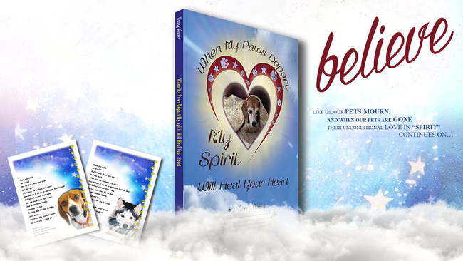 """Nancy Alanis' new book """"When My Paws Depart My Spirit Will Heal Your Heart"""""""