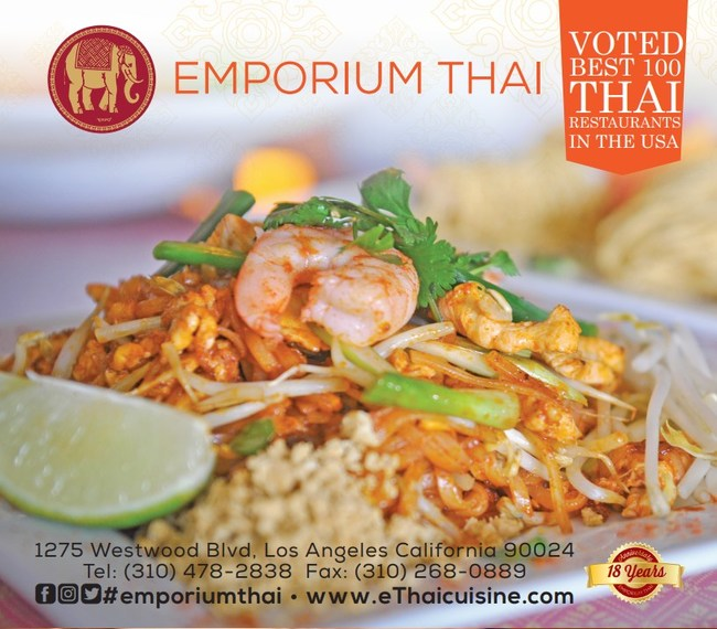 Voted Top 100 Best Thai Restaurant in the US