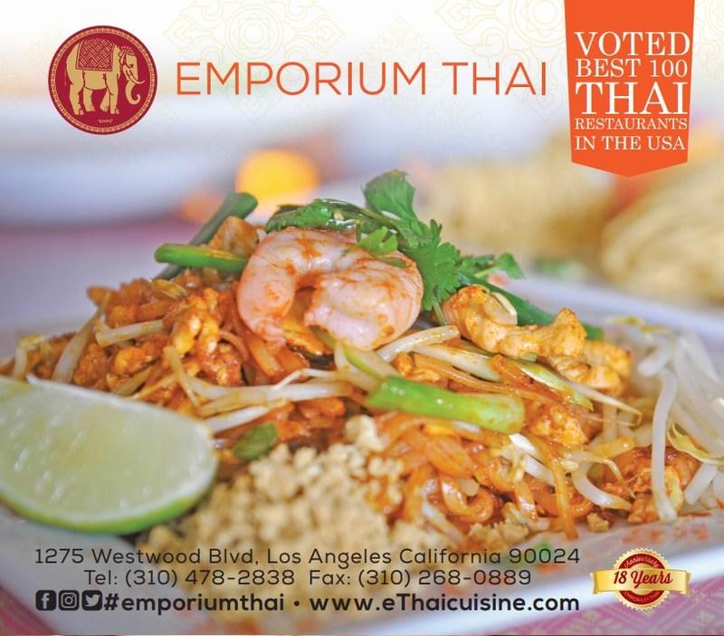 Voted Top 100 Best Thai Restaurant in the US