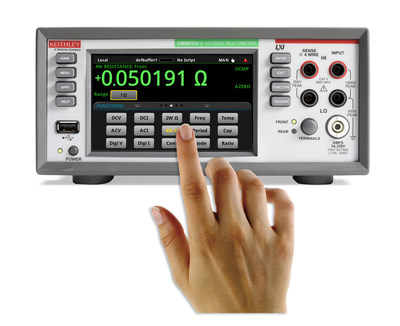For its latest 6½-digit multimeter and data acquisition offerings, Keithley delivers a new level of simplicity providing a 5-in (12.7cm) touchscreen display with graphing, pinch and zoom, cursors, and statistics for greater insight into measurement trends and waveform characteristics saving time with setting up, monitoring, and executing measurements.