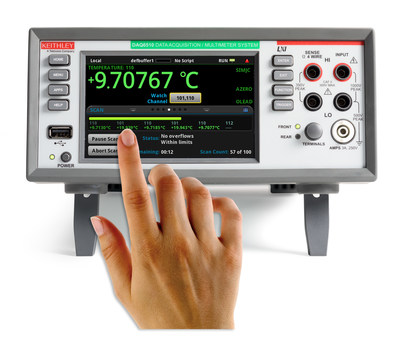 The DAQ6510 Data Acquisition and Logging Multimeter System addresses the needs of environmental test, failure analysis, and quality control engineers who need to quickly set up tests on a statistically significant sample of products.