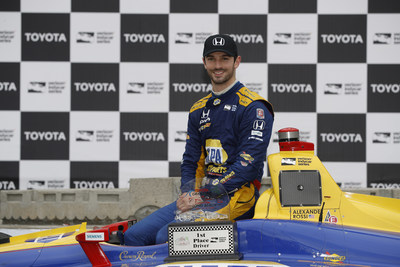 Alexander Rossi scored a dominant IndyCar victory for Honda and Andretti Autosport team Sunday at the Grand Prix of Long Beach. (PRNewsfoto/Honda Racing/HPD)