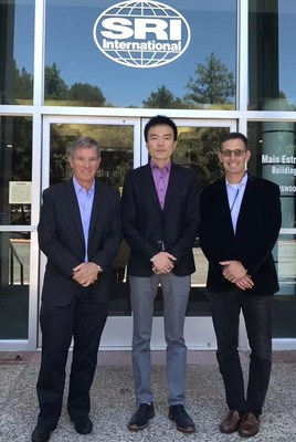 From left to right: Stephen Ciesinski, President, SRI, Derek Haoyang Li, Founder and Chairman, YiXue Inc., Robert Pearlstein, VP, SRI