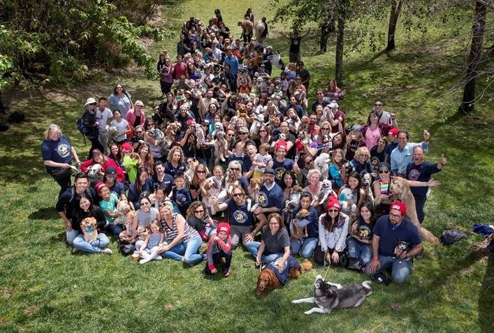 "108 dogs came together on Sunday, April 15 and set the GUINNESS WORLD RECORDS title for the ""Largest dog photo shoot"" while filming the closing scene for upcoming IMAX® documentary Superpower Dogs™."