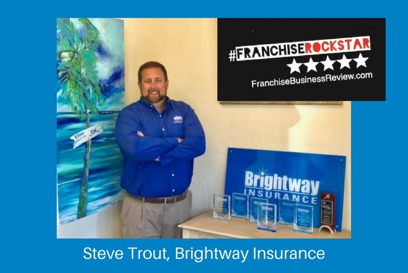 Franchise Business Review named Brightway's Steve Trout a 2018 Franchisee Rockstar.