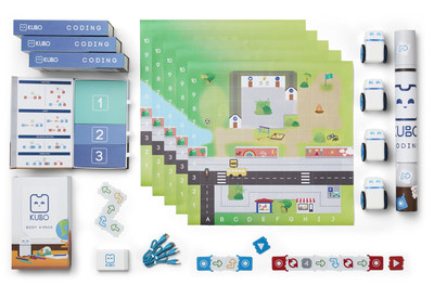 Bring coding to your classroom with the KUBO Coding 4-Pack for K-2 students. The pack includes four robots, six activity maps, and a multi-charger box that enables you to recharge up to five robots in just two hours for four hours' usage. Also available to teachers is KUBO Education (KEDU), an online delivery portal with onboarding material and a variety of downloadable activities.