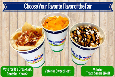 From Sweet & Savory to Salty & Crunchy, Midwest Dairy Asks Public to vote on which exclusive malt and sundae flavor will be served in the Dairy Building during the 12 days of the 2018 Minnesota State Fair. (PRNewsfoto/Midwest Dairy)