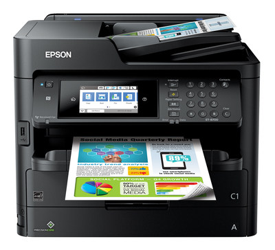 Epson's WorkForce Pro ET-8700 EcoTank printer offers cartridge-free printing for busy offices.