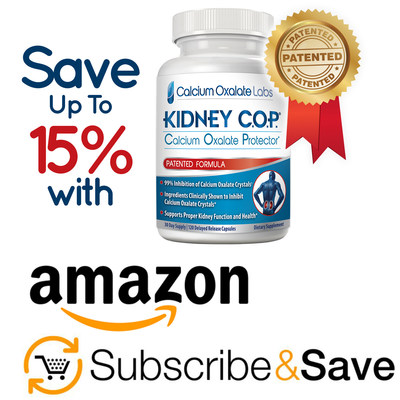 """Kidney C.O.P. has been added to Amazon's """"Subscribe and Save"""" Autoship Program - Customers Save 5-15%!"""